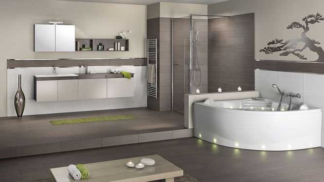 d co salle de bain avec baignoire dangle. Black Bedroom Furniture Sets. Home Design Ideas
