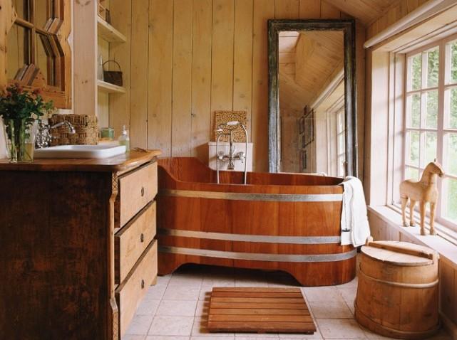 D co salle de bain bois - Caillebotis bois salle de bain ...