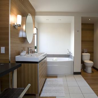 D co salle de bain c ramique - Revamper armoire melamine ...