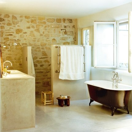 D co salle de bain en pierre for Salle de bain ton pierre