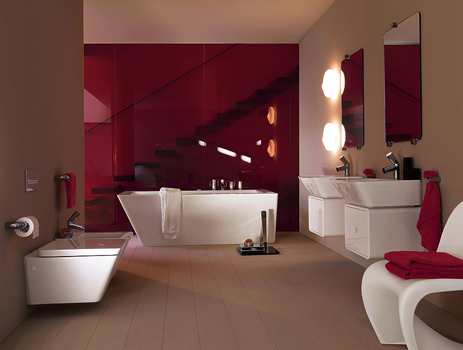 D co salle de bain framboise for 2 br 2 piani casa bagno
