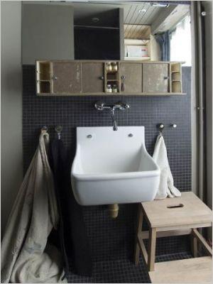 d co salle de bain industriel. Black Bedroom Furniture Sets. Home Design Ideas