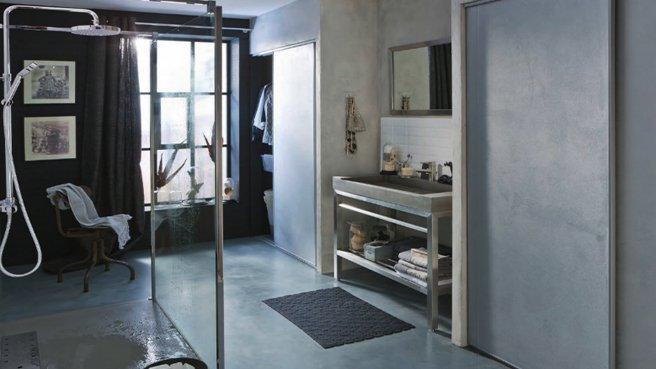 D co salle de bain industriel for Salle bain industriel