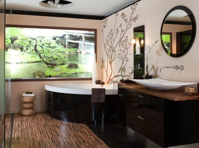d co salle de bain japonaise. Black Bedroom Furniture Sets. Home Design Ideas