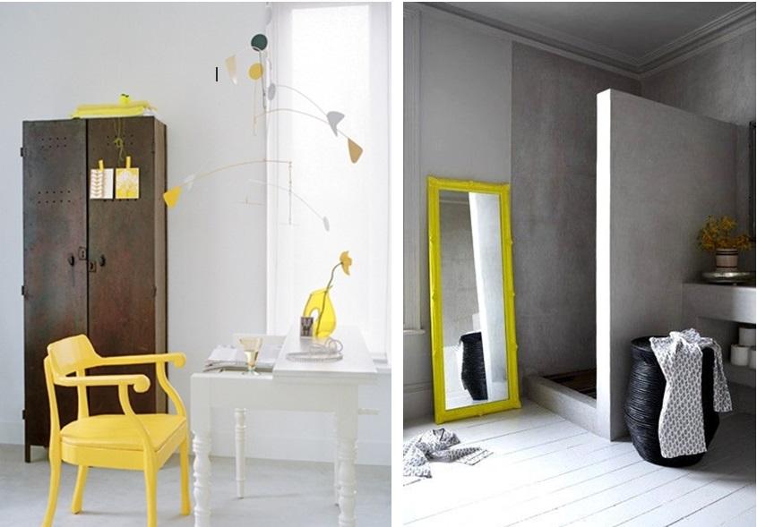 d233co salle de bain jaune et gris