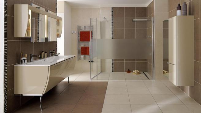 Deco Salle De Bain Beige Et Blanc : Déco salle de bain marron et beige