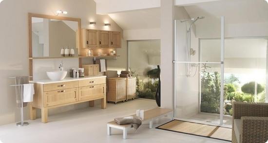 D co salle de bain nature zen for Salle de bain deco nature