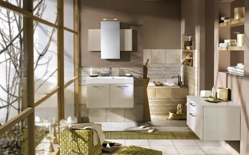 idee deco salle de bain nature
