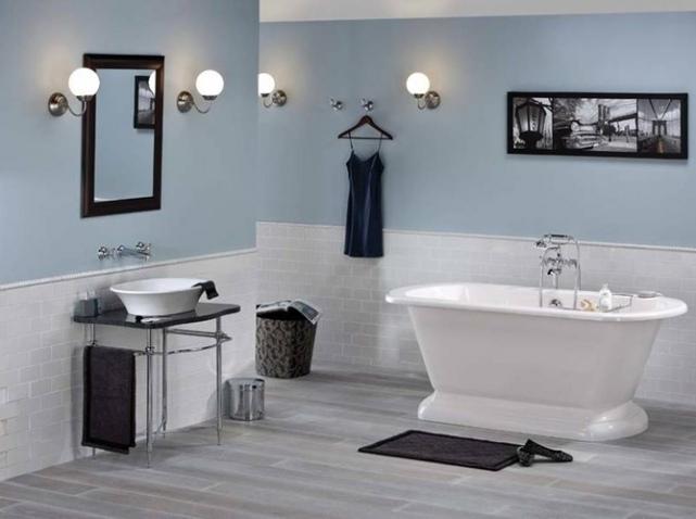 d co salle de bain noir et gris. Black Bedroom Furniture Sets. Home Design Ideas