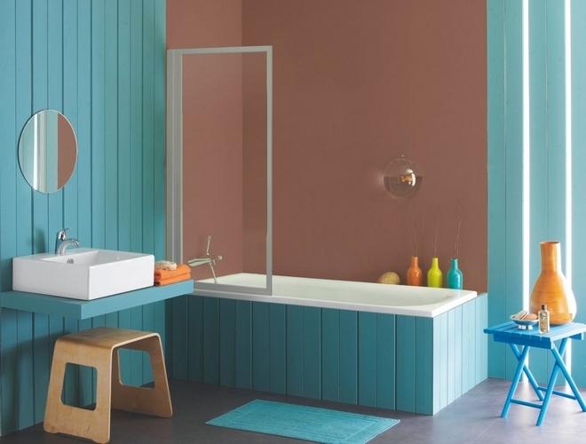 D co salle de bain style bord de mer for Exemple deco salle de bain