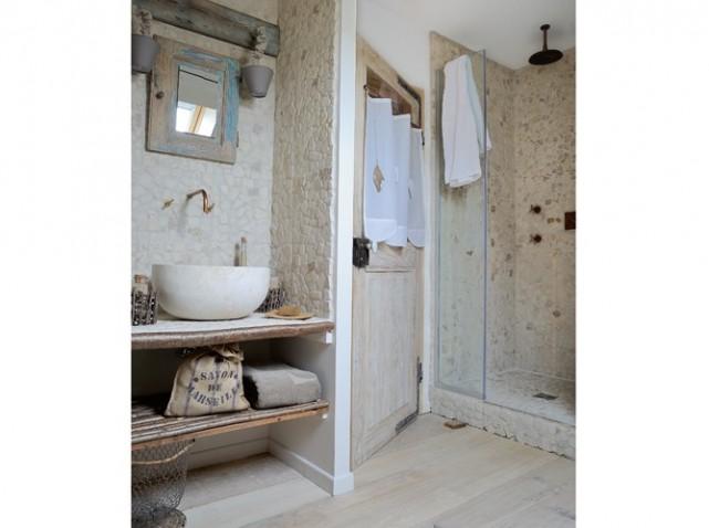 D co salle de bain style bord de mer - Deco mer salle de bain ...