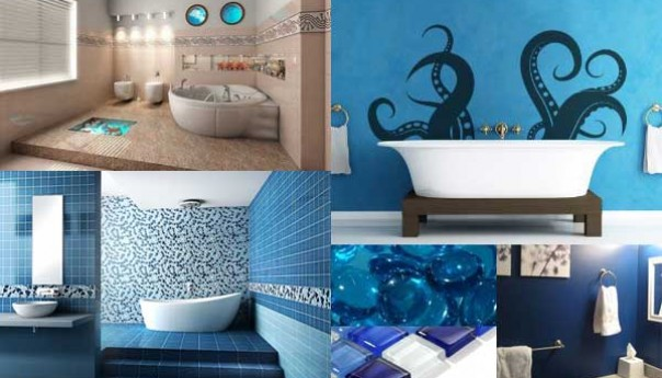 D co salle de bain theme marin for Decoration theme marin