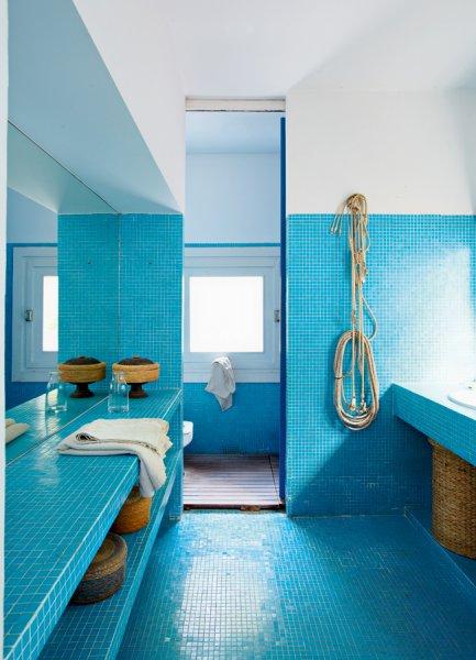 Photo decoration d co salle de bain theme marin - Decor marin pour salle de bain ...