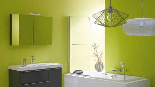 organisation déco salle de bain vert et gris - Salle De Bain Verte Et Grise