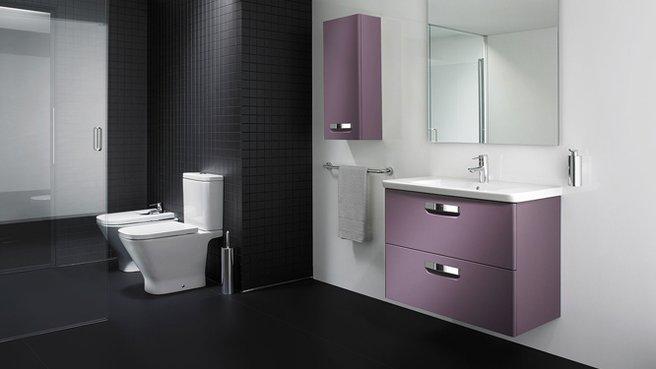 d co salle de bain violet. Black Bedroom Furniture Sets. Home Design Ideas