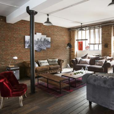 d coration ambiance loft. Black Bedroom Furniture Sets. Home Design Ideas