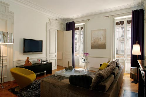 Jolie décoration appartement haussmannien contemporain