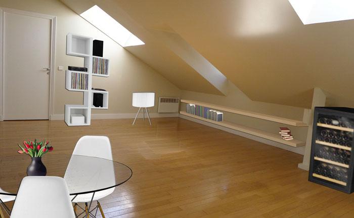 D coration appartement mansard for Modele deco appartement