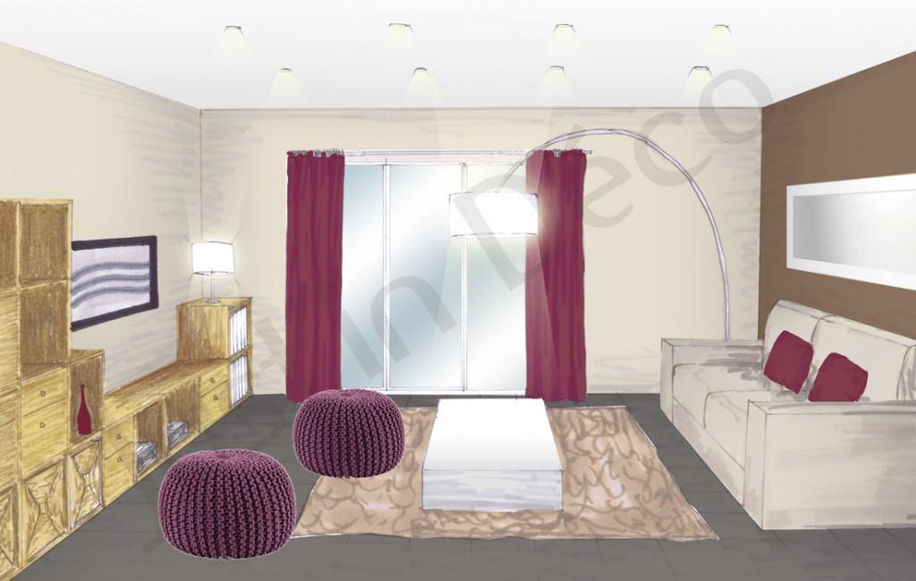 D coration appartement salon for Photo salon dappartement