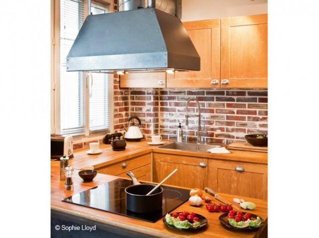 idée décoration cuisine brique