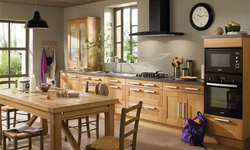 d coration cuisine en bois. Black Bedroom Furniture Sets. Home Design Ideas