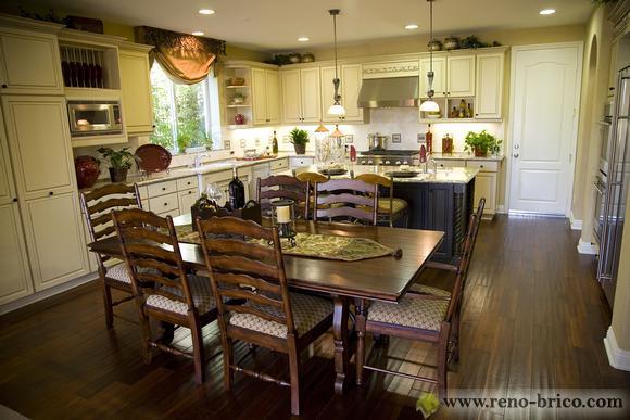 D coration cuisine et salon aire ouverte for Decoration salon cuisine ouverte