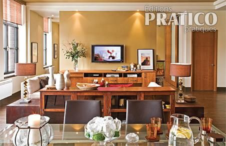 D coration cuisine et salon aire ouverte for Decoration cuisine salon ouvert