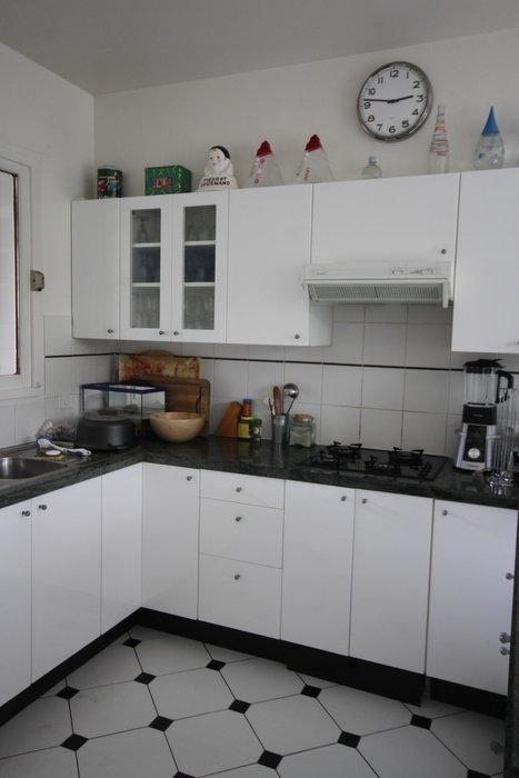 belle décoration cuisine noir et blanc