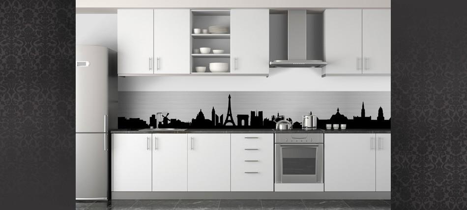D coration cuisine noir et blanc for Decoration noir et blanc