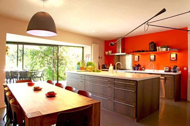 d233coration cuisine orange