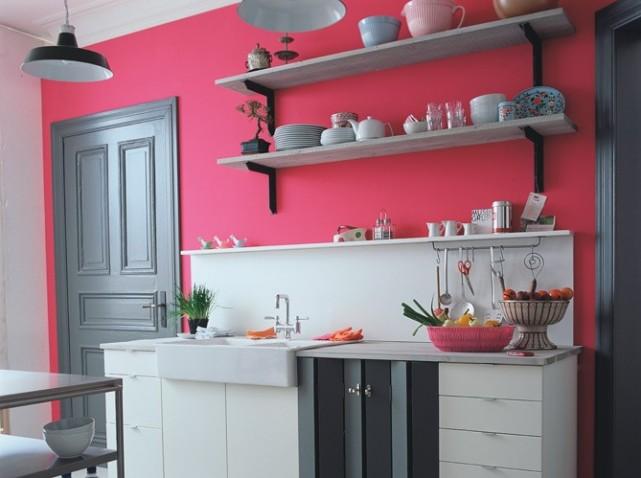 d coration cuisine rose. Black Bedroom Furniture Sets. Home Design Ideas