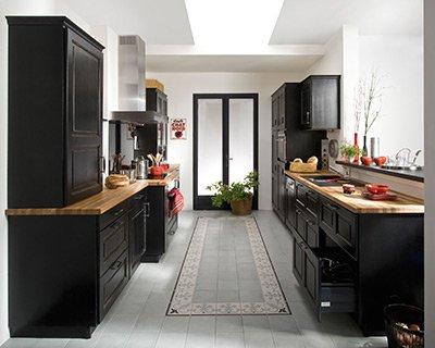 d coration cuisine style bistro. Black Bedroom Furniture Sets. Home Design Ideas
