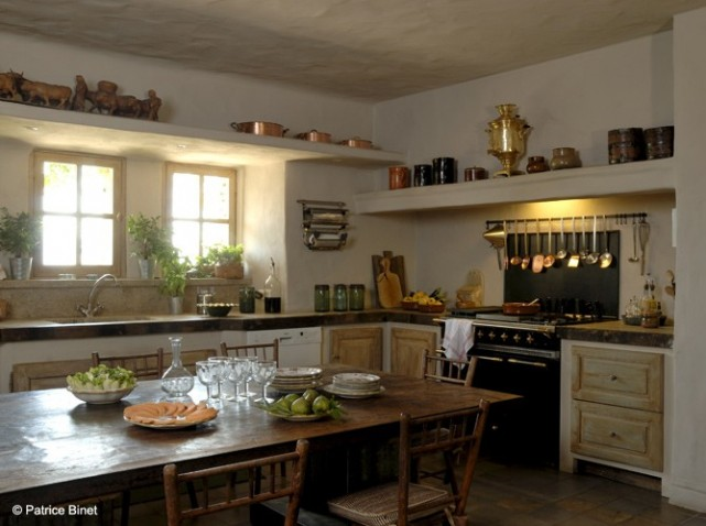 D coration cuisine style rustique for Amenagement cuisine rustique