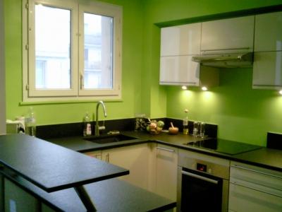 D coration cuisine verte for Exemple peinture cuisine