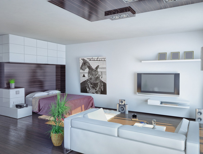 d coration dun appartement studio. Black Bedroom Furniture Sets. Home Design Ideas