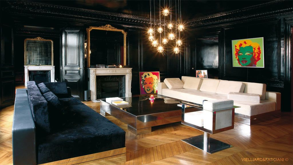 d coration interieur appartement parisien. Black Bedroom Furniture Sets. Home Design Ideas