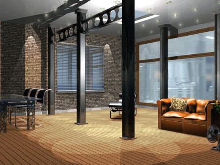 d coration interieur loft industriel. Black Bedroom Furniture Sets. Home Design Ideas