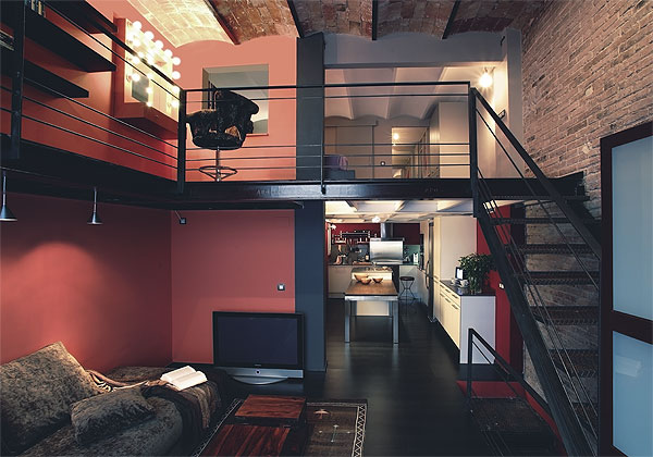 d coration loft industriel chambre. Black Bedroom Furniture Sets. Home Design Ideas