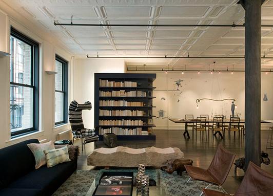 aménagement décoration loft new york