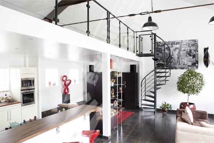 D coration mezzanine loft for Decoration interieur style contemporain