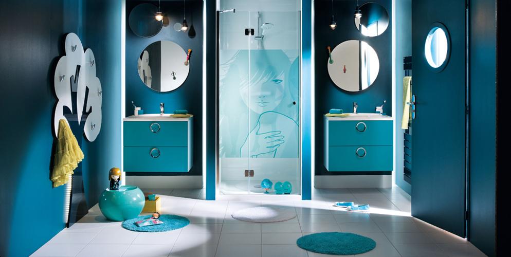 D coration salle de bain adolescent for Exemple deco salle de bain
