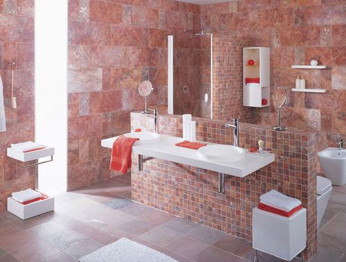 photo decoration salle de bain antique - Salle De Bain Marbre Rose