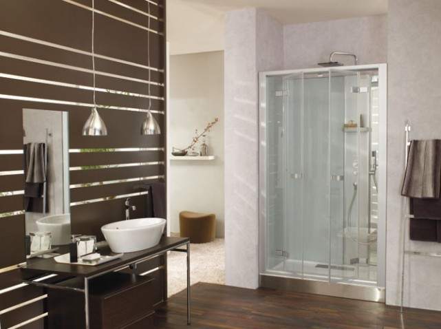 d coration salle de bain avec douche. Black Bedroom Furniture Sets. Home Design Ideas
