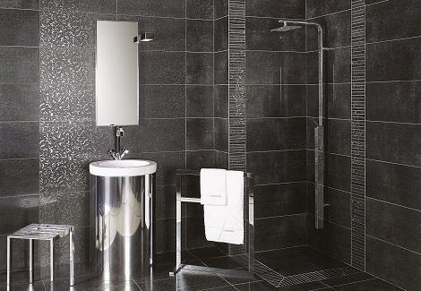 d coration salle de bain carrelage. Black Bedroom Furniture Sets. Home Design Ideas