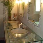 décoration salle de bain coquillage