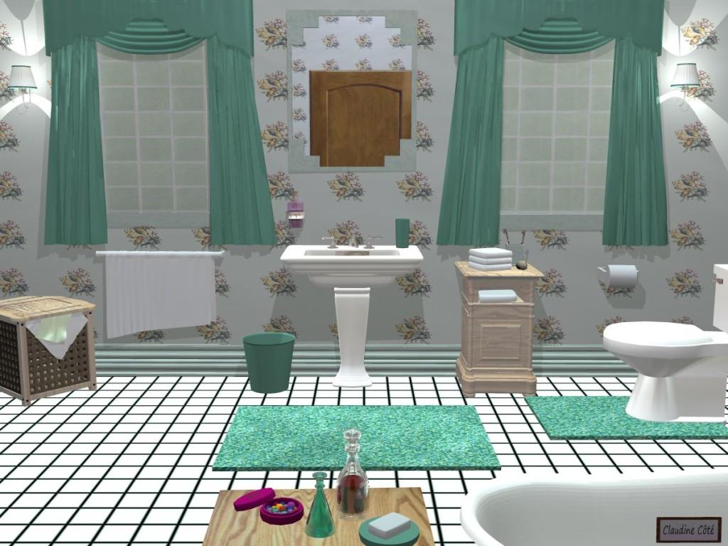 Des papiers peints avec coquillage pour une salle de bain ?  Question /