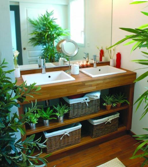 d coration salle de bain exotique