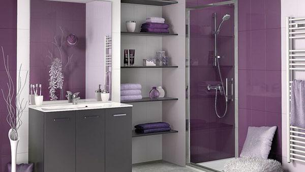 Photo décoration salle de bain gris