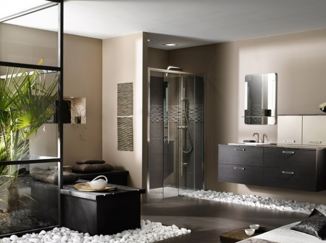 aménagement décoration salle de bain idee - Photo Déco