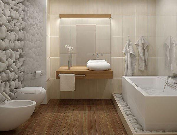 exemple décoration salle de bain japonaise - Photo Déco